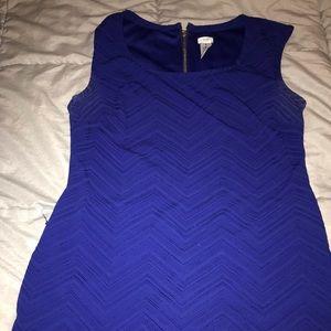 Blue cap sleeve Cache dress